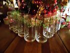 8 USED GIBSON CHRISTMAS CHARM HOLLY TUMBLERS GLASSWARE 6