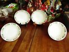 NEW OTHER 4 GIBSON CHRISTMAS CHARM HOLLY BERRIES SOUP CEREAL BOWLS 6.5