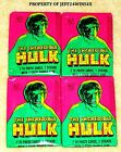 Lot of (4) 1979 Topps THE INCREDIBLE HULK Wax Packs NEAR MINT-MINT CONDITION!!!