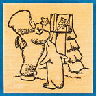 Dept 56 Snowbabies Rubber Stamp You Didnt Forget Me Christmas Present in Mail