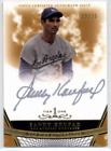 2011 Topps Tier One Top Tier Autographs Gold Sandy Koufax On Card Auto #d 22 25