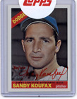 2015 Topps Heritage Real One Autographs Red Ink Sandy Koufax On Card Auto 36 66