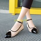 Lolita Womens Flats Mary Janes Cute Grils Ankle Strap Pumps Flats Party Shoes 11