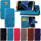 Magnetic Wallet Book PU Leather Card Flip Stand Cover LOT Embossing SYC1 Case