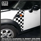 Mini Cooper Clubman Checkered Side Panel Stripes Decals 2008 2009 2010 2011