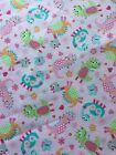 Snuggle Flannel Fabric NEW ADORABLE Girly Dinosaurs Pink 100 Cotton Sold BTY