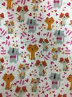 Snuggle Flannel Fabric NEW 100 Cotton Kitty Cats  Bows Material Girly BTY