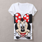 SALE Women's T-Shirt Minnie Mouse Fashion T Shirts for Girls New 2017 Hot