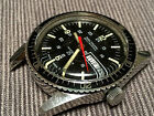 Vintage Waltham Diver Wristwatch 24hr Military time Solid Stainless Automatic