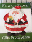 FITZ AND FLOYD GIFTS FROM SANTA CANAPE COOKIE PLATE 9,25