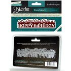 Crafters Companion Birthday Die Diesire Edgeables Wishing You a Happy Birthday