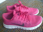 Nike Free 50 Girls Pink Black White Running Shoes Sneakers 580565 602 Size 6Y
