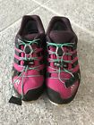 Girls Adidas Gore Tex Pink Purple Black Sneaker Gym Shoes Size 2