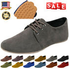 Mens Flats Moccasin Loafer Casual Driving Suede Slip On Black Leisure Shoes