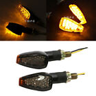 2x Black Universal Motorcycle Turn Signals LED Dual Sport Dirts Bikes Lights MT