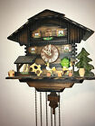 GERMAN ANIMATED BEER DRINKERS 1 DAY MUSICAL CUCKOO CLOCK WATERWHEEL
