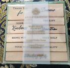 Anna Griffin Wood Mounted Rubber Stamp Set of 9 sentimental statements NEW