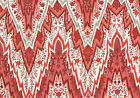 Waverly Fabric Bray Flamestich Ladybug Red Coral Gray Beige Drapery Upholstery