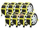 (8 Pack) Wheel Net Basket Auto Tow Dolly Strap w/ Flat Hooks (No Ratchet)