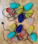 2 - 7 String Patio RV Lights Vintage Beehive Style Party Lites Plastic Blow Mold