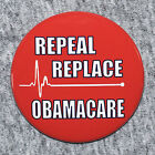 Donald Trump Repeal Replace Obamacare Button Pin Red Pinback