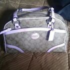 authentic coach handbags tan and light pink
