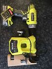 Ryobi R18PD ONE+ Cordless Drill including battery and charger.