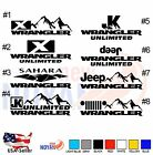 2 X WRANGLER JEEP SAHARA JK SIDE CAR DECAL VINYL DIE CUT STICKER