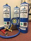 R404a, Recharge Kit, (3) cans 28 oz.ea , w/Check & Charge-It Gauge Charging Hose