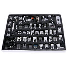 52pcs Domestic Sewing Machine Foot Feet Presser Snap On For Brother Singer Set