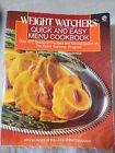 Weight Watchers Quick  Easy Menu Cookbook 1987 Quick Success program 250 recipe