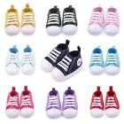 Toddler Baby Shoes Lace Up Canvas Sneakers Boys Girls Soft Crib Shoes Prewalkers