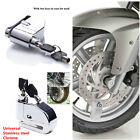 1xChrome Bike Motorcycle Scooter Anti-theft Wheel Disc Brake Lock Security Alarm