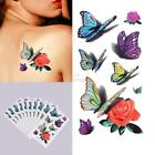 Women Butterfly Flower Temporary 3D Tattoo Waterproof USA Seller