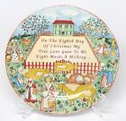 222 Fifth Twelve Days of Christmas - 8th Day Maids Milking Salad Dessert Plate