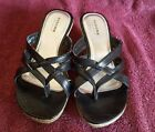 Girls Sonoma Black Sandals Shoes Size 2