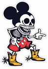 Mickey Mouse Zombie Skeleton Vinyl Sticker Decal
