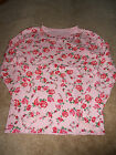 Girls Childrens Place TCP Pink Floral Long Sleeve Top Shirt Size 14 Used
