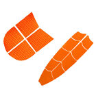 13x Orange EVA SUP Surfboard Skimboard Dog Traction Pad Full Deck Grip Mat
