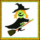 Sizzix Bigz Witch with Broom die 655571 MSRP 1999 Retired  Rare Cut fabric