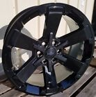 22 Chevy 1500 Midnight Wheels Glos Black Rally GMC Yukon 5662 Denali Rims CK162