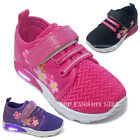 New Baby Girls Light Up Heel Sneaker Tennis Shoes Pink Black Purple Size 4 to 9