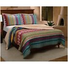 Southwest Bedding Twin Size Quilt Set 3 Piece Bedspread Native American Patterns