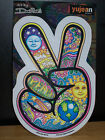 PEACE SIGN HAND PSYCHEDELIC WINDOW STICKER DAN MORRIS 4X 6 NEW YUJEAN STICKERS
