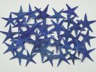 90 PCS DYED BLUE TAN FLAT STARFISH STAR SEA SHELL BEACH 3 4 1 1 4 7602
