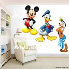 Mickey Mouse and Donald and Goofy Room Decor Wall Decal Removable Sticker