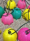 Vintage NOMA Patio Party Lights Camping Light String Flowers 2 Sets of 7 Retro