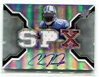 2007 SPX #220 CALVIN JOHNSON SPECTRUM JERSEY BALL AUTO ROOKIE 12 25 LION