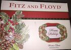 Fitz & Floyd WINTER CLAUS Sentiment Tray HAPPY HOLIDAYS 49-365 NEW