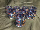 Set of 8 ~ Berta Cocktail Old Fashioned Drinking Glass Tumbler ~ Blue, Gold